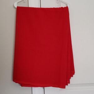 Red Saree Fabric Material